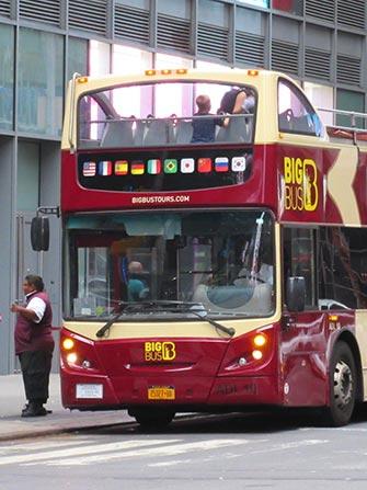 Hop-On Hop-Off buss i New York - Big Bus