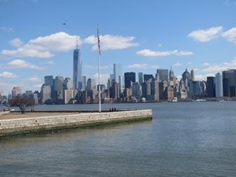 Ellis Island i New York - Utsikt til Manhattan