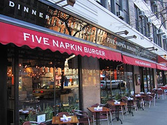 Beste hamburgere i New York - Five Napkin Burger