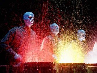 Blue Man Group Tickets i New York - Våte trommer