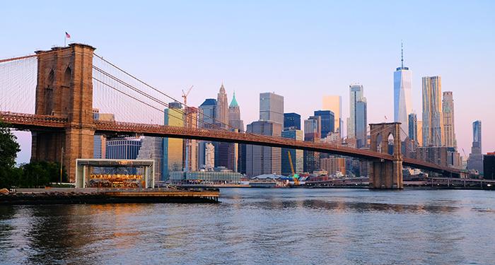 Brooklyn Bridge i New York - Skyline