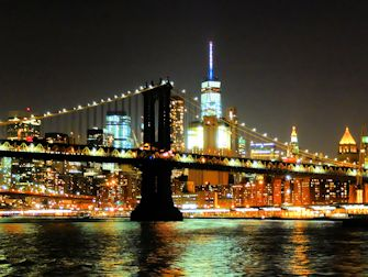 Cruise med middagsbuffet i New York - Manhattan skyline