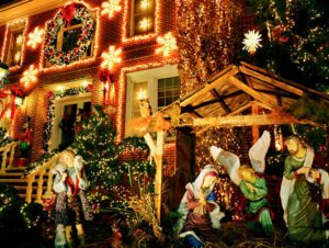 Dyker Heights Christmas Lights - Julekrybbe