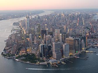 Helikopter kveldstur og cruise i New York - Manhattan
