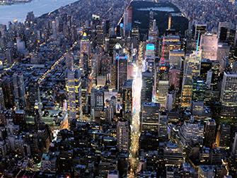 Helikopter kveldstur og cruise i New York - Times Square
