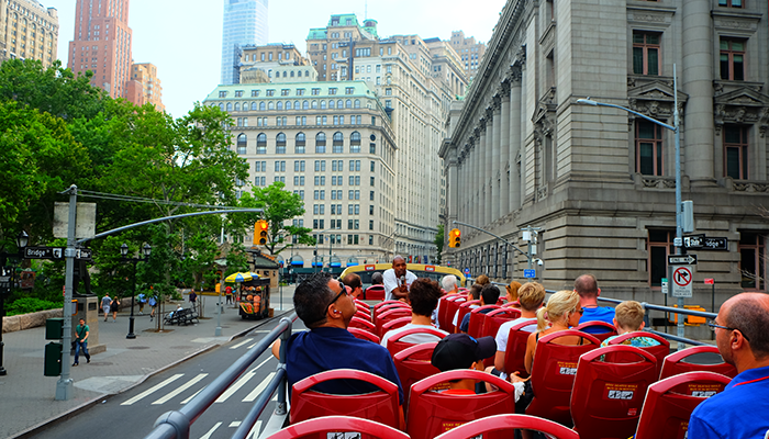 Hop-on-hop-off-buss i New York - Sightseeing