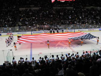 New York Islanders - Amerikansk flagg