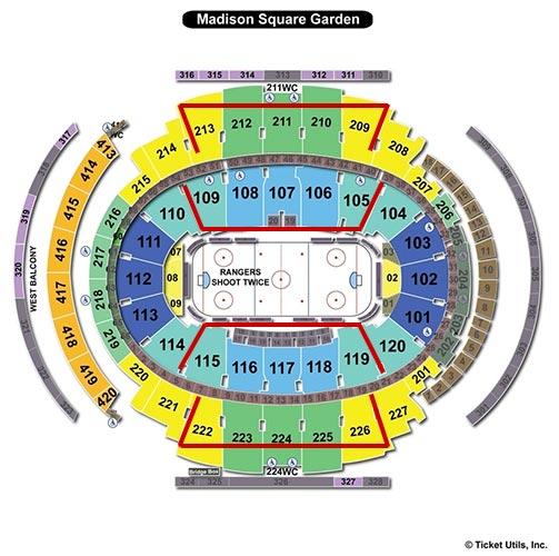 New York Rangers - Madison Square Garden Salkart