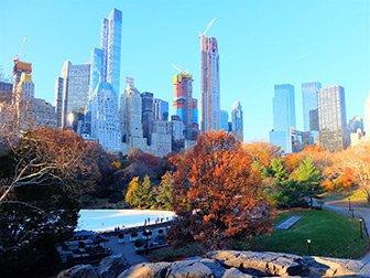 Stå på skøyter i New York - Central Park