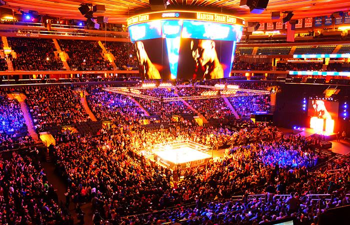 WWE wrestling i New York tickets - Utsikt