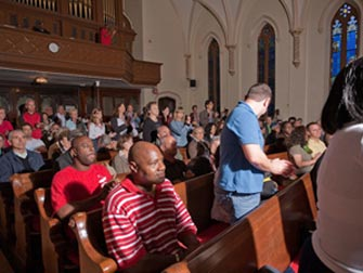 Guidet tur til gospel i New York - Kirkens besøkende