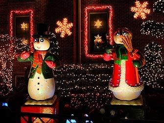 Jul i New York - Dyker Heights dekorasjon