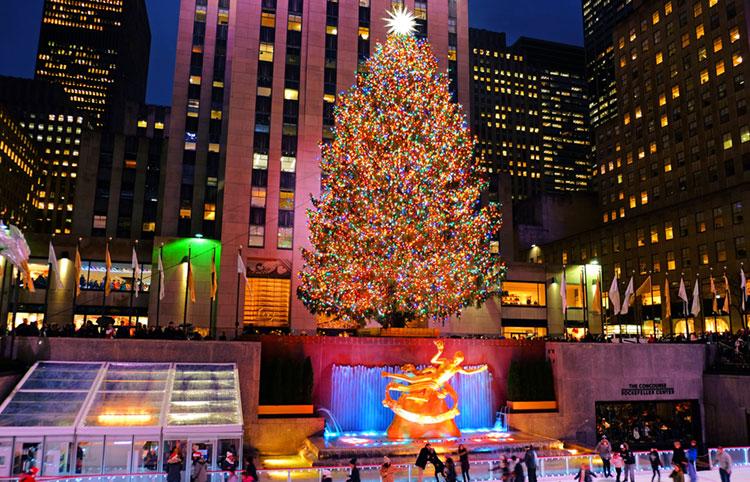 Jul i New York - Rockefeller Christmas tree