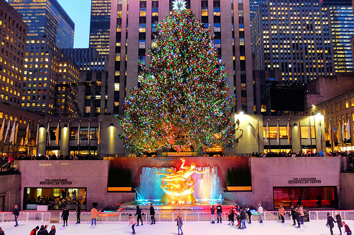Jul i New York - Rockefeller-juletre