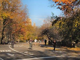 Leie sykkel i New York - Høsten i Central Park