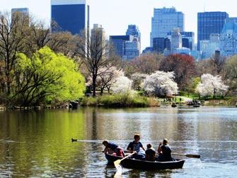 Parker i New York - Båter i Central Park