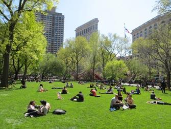 Parker i New York - Folk ved Madison Square Garden