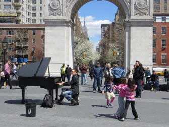 Parker i New York - Live musikk i Washington Square Park