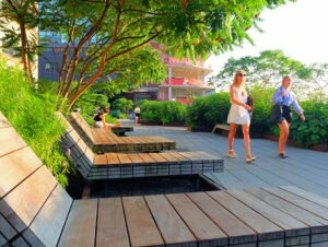 Parks i New York - Sommer i High Line Park