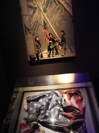 9-11 Museum i New York - Amerikansk flagg