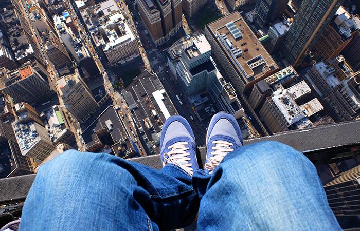 Helikoptertur uten dører i New York - Sko-selfie