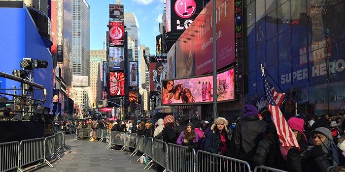 Nyttårsaften i New York - Times Square