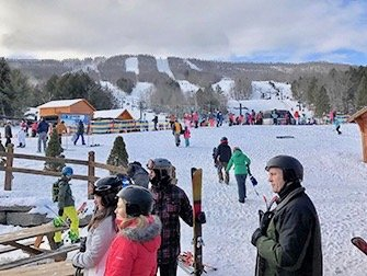 Ski eller Snowboard dagstur i New York - Hunter Mountain