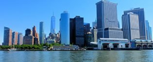 Lower Manhattan Financial District i New York