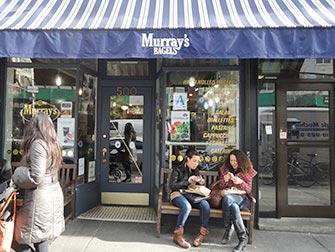 De beste stedene for kaffe og bagels i New York - Murrays Bagels
