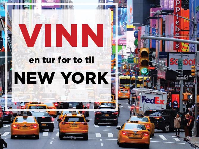 Vinn en reise til New York