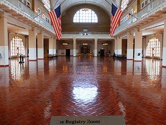 Ellis Island i New York - Registry Room