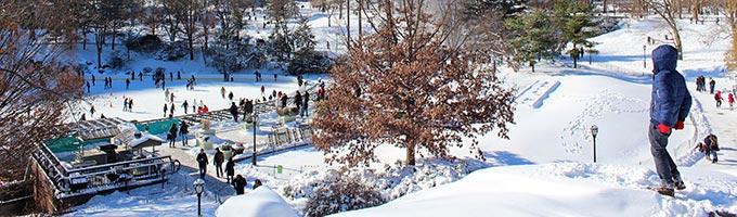 Skianlegg i nærheten av New York City
