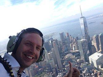 Helikoptertur uten dører i New York - Selfie