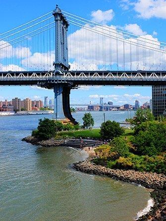 Brooklyn Bridge Park i New York - Manhattan Bridge
